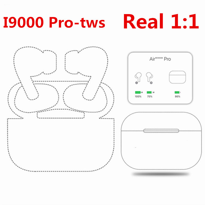 i9000 Bluetooth Air 3 Pro Tws Noise Reduction Earphone Wireless motion Headsets Stereo Earbuds Touch music Headphones PK i200