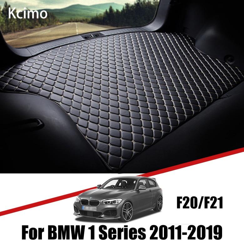 Кожаный коврик для багажника автомобиля, коврик для багажника BMW F20, подкладки для груза для BMW 1 серии 2011-2019, коврик для багажника BMW 114i 116i 125i, п...