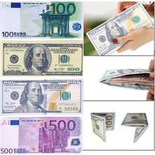 Высококачественный модный Шикарный кошелек унисекс для банкнот