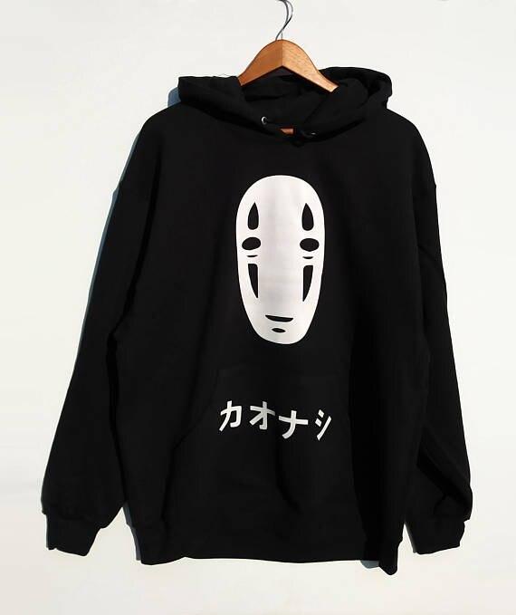 Sweatshirts No Face Men Hoodie Spirited Away Sweatshirt Anime Harajuku Hoodies Unisex Black Tumblr Casual Jumper Grunge Tops