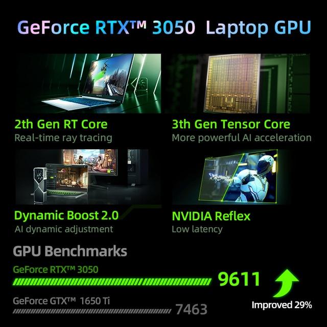 World Premiere Machenike T58-V 11th intel Core i7 Gaming Laptop i7 11800H RTX 3050 Laptops 144Hz Notebook Computer Windows 10 3