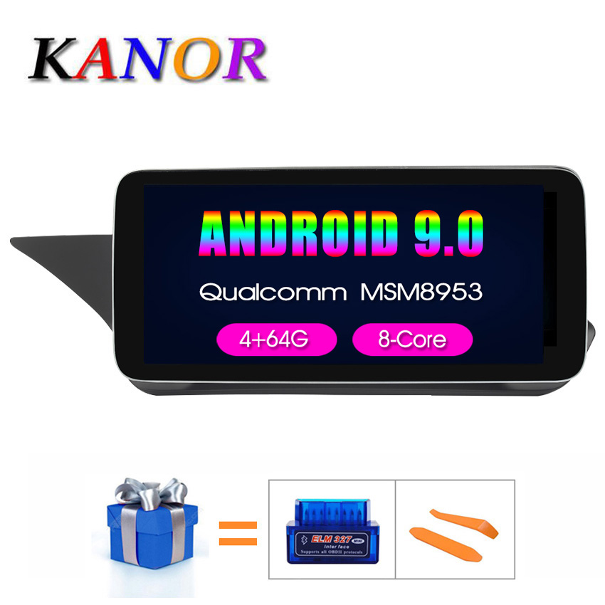 KANOR 10.25 inch 4+64G Display <font><b>Android</b></font> 9.0 for Mercedes <font><b>Benz</b></font> E Class <font><b>W212</b></font> <font><b>W212</b></font> E200 E230 E260 E300 S212 2009-2015 Auto Stereo image