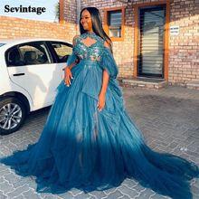Sevintage с высокой горловиной платья из органзы для выпускного