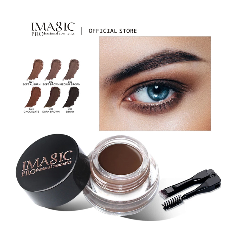 IMAGIC New Arrivals Professional Eyebrow Gel High Brow Tint Makeup Eyebrow Brown Eyebrow Gel With Brow Brush Tools 1