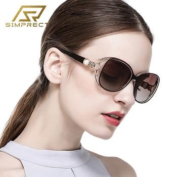 SIMPRECT Polarized Sunglasses Women 2020 Oversized Retro Luxury Vintage Big Square Sun Glasses For