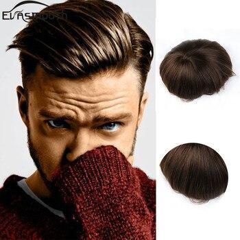 2020 Ins Trend Menselijk Haar Mono Mannen Toupet Haar Extensions Mannelijke Pruiken Lace Front Human Hair Pruik Toupet Base Dikte 0.02-0.08 Mm