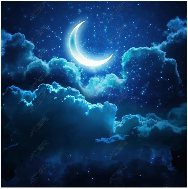 Custom Ceiling Wallpaper 3d Zenith Murals Wallpapers Night Sky Stars Moon White Clouds Starry Sky Living Room Ceiling Mural Wallpapers Aliexpress