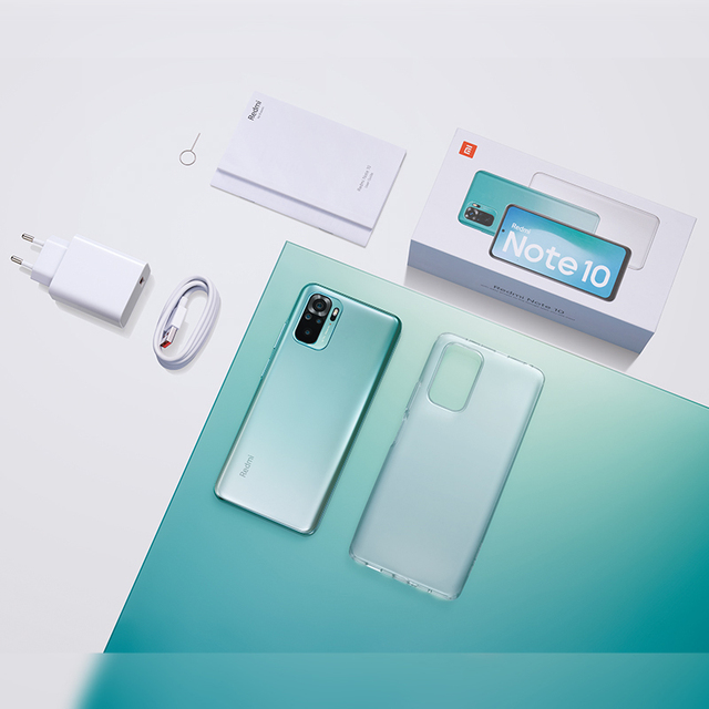 Xiaomi redmi nota 10 4gb 64gb/128gb smartphone versão global snapdragon 678 amoled display 48mp quad camera 33w 6