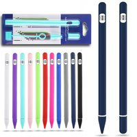 case ipad Colorful Soft Silicone Compatible For Apple Pencil Case Compatible For iPad Tablet Touch Pen Stylus Protective Sleeve Cover (1)