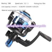 Spinning Reel 3 Axis 5.2 Left Right Hand Swap High Speed Fishing with 40M Line
