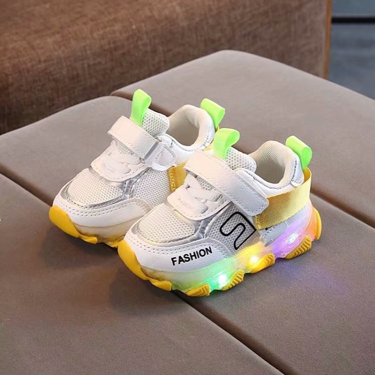 Fashion Kids Toddler Baby Girls Boys Letter Mesh Sport Shoes Run Sneakers Shoes