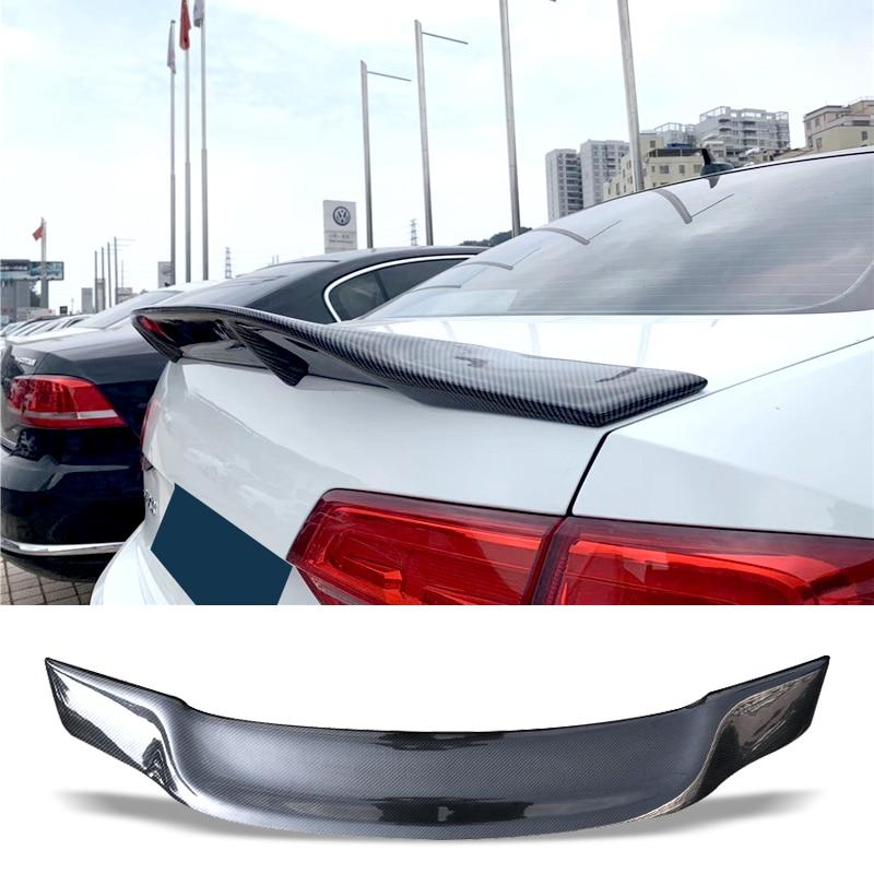 Car Trunk Spoiler Carbon Fiber FRP Auto Rear Trunk Wing R Style Refit Accessories Spoiler For Volkswagen VW Jetta 2015-2017(China)