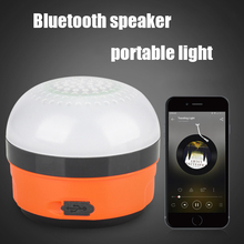Mini Rechargeable Light 5W LED USB Bluetooth Speaker Camping Lantern Outdoor Emergency Power Bank Hiking Night Hanging Tent lamp