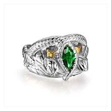 LOTR S925 Sterling Sliver Aragorn's Ring of Barahir One Sliver Snake Aragorn Ring