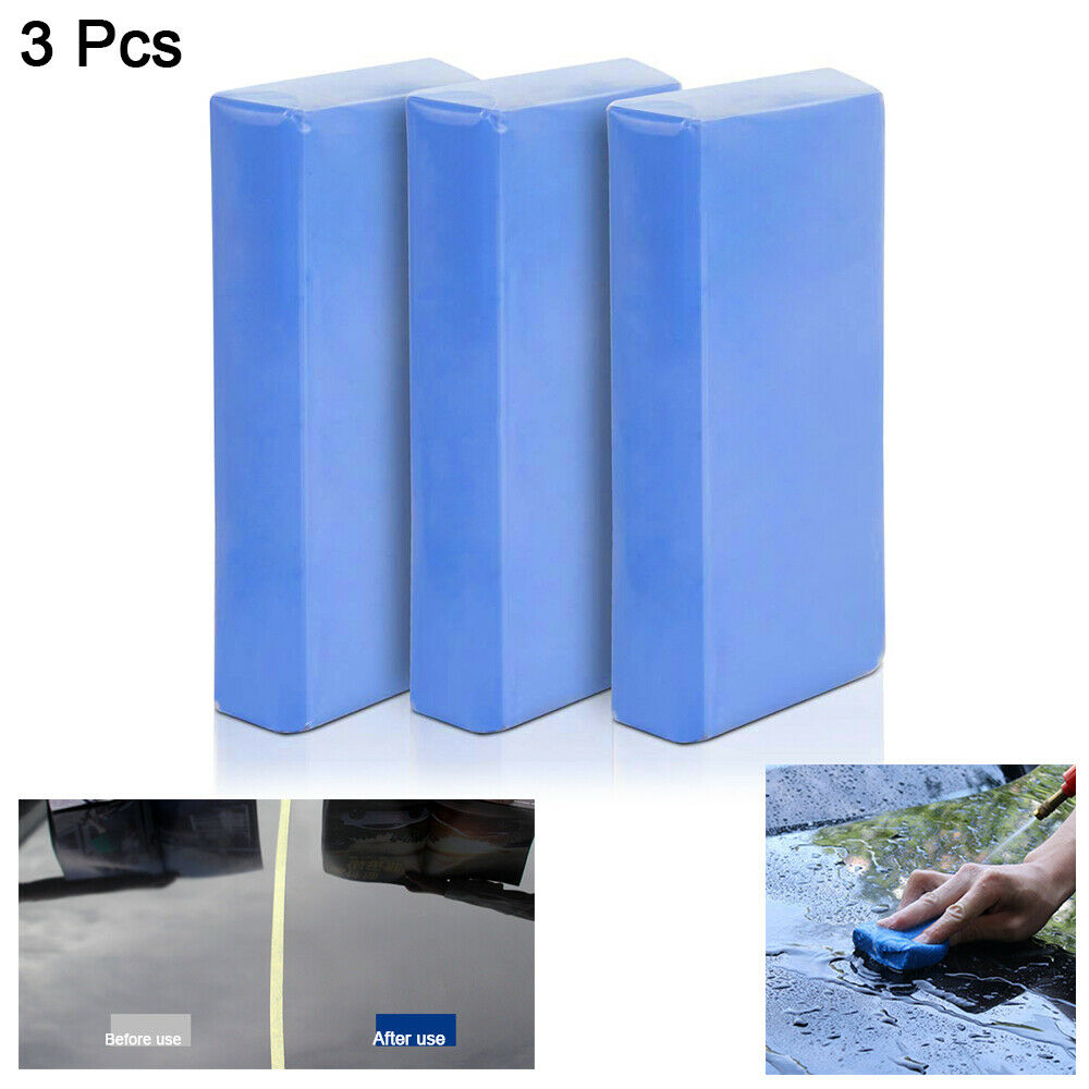 3pcs 100g 6.5*4.5*2cm Car Bumper Detailing Clay Bar Dirt Removal Cleaning Tool Car Wash Mud Automobiles & Motorcycles - title=