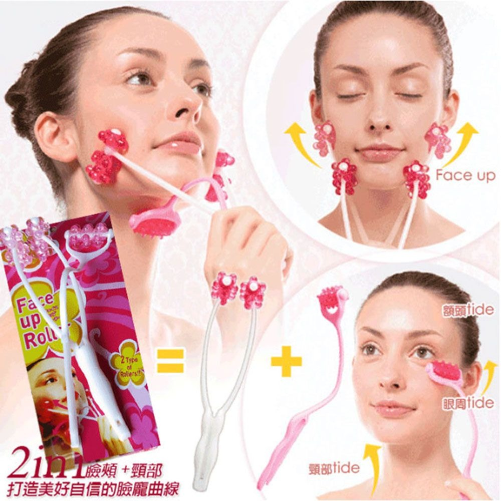 2020 new hot Women Beauty Neck Face Roller Slim Massage Facial Tool Massager Slimming Remove Double Chin Tool