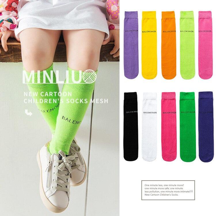 2019 English Lettered Popular Brand Tube CHILDREN'S Socks Multi-color Sports Baby Socks Stockings