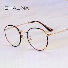 SHAUNA-gafas clásicas con marco de Metal para ordenador, anteojos con montura de Metal redondo a la moda, antiluz azul