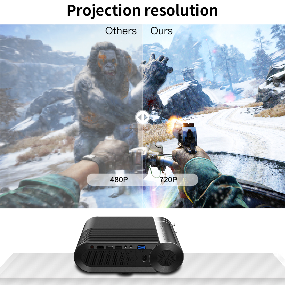 Image 3 - CRENOVA 2019 Newest HD 720P LED Projector For 1080P  Wireless WiFi Multi Screen Video Projector  3D HDMI VGA AV Beamer-in LCD Projectors from Consumer Electronics
