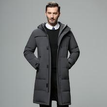 Men's Winter Hooded Long Down Jacket Hoodie Outerwear Parka Coat