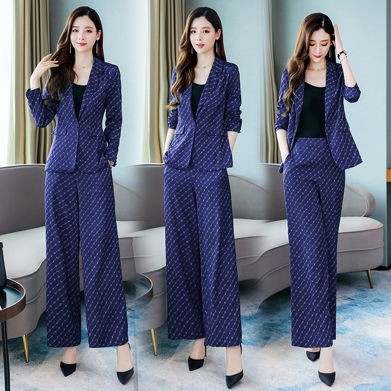 pant suit jacket coat office work 2 piece set for women outfits plus size matching clothing 2019 winter autumn 2pcs green in Women 39 s Sets from Women 39 s Clothing