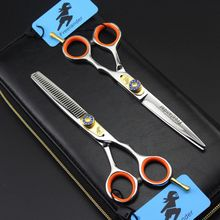 Professional 6 inch Japan 440C Hair Scissors Cutting Scissor Barber Thinning Shears Scisors Hairdressing Scissors 5 kit professional japan 440c 6 5 inch blue dog grooming hair scissors pet cutting barber thinning shears hairdressing scissors