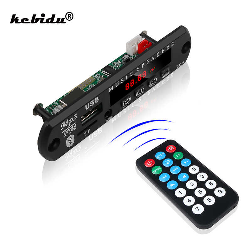 Kebidu bluetooth mp3 player decodificador placa de rádio fm tf usb 3.5mm aux áudio handfree carro kit para o telefone do iphone android