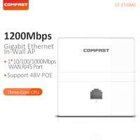 Comfast sem fio em-parede ap 1200 mbps banda dupla 2.4 + 5g gigabit ethernet ponto de acesso para hotel rj45 wan lan porta roteador CF-E538AC