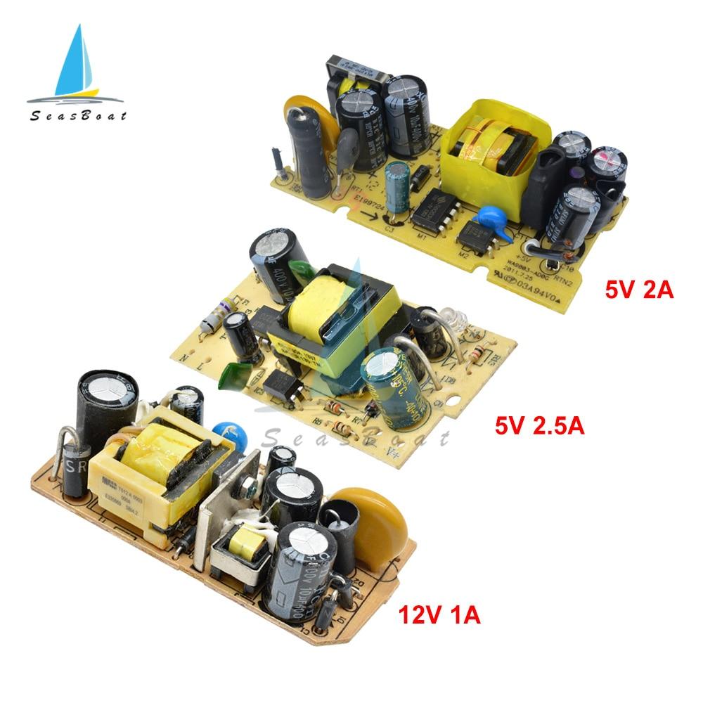 AC-DC 5V 2A/2.5A 12V 1A Module dalimentation à découpage Circuit nu 220V à 5V 12V carte pour remplacer/réparation