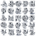 CODEDOG 100% Real 925 Sterling Silver Letter Alphabet A-Z Charm Name Bead Fit Original Bracelet Pendant Jewelry CMC030