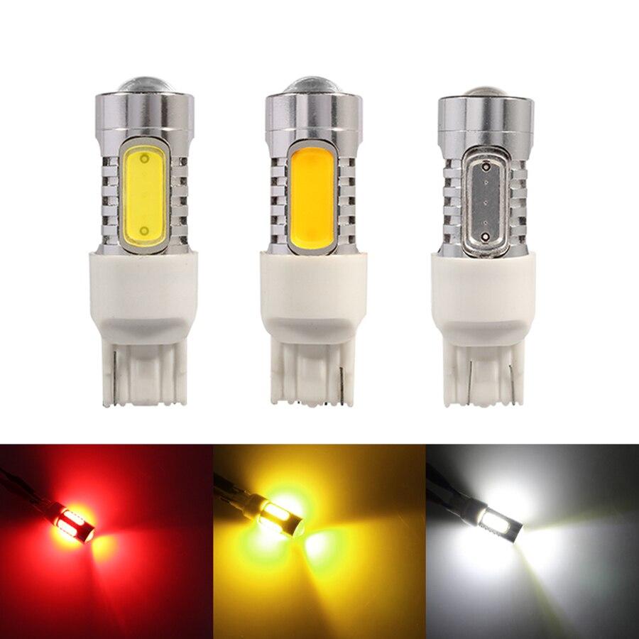 NHAUTP 1 шт. COB 7,5 W T20 W21W светодиодный лампы 7440 7443 W21/5w Автомобильный светодиодный стоп-сигнал/сигнал поворота/фонари заднего хода ДРЛ белый Янтар...