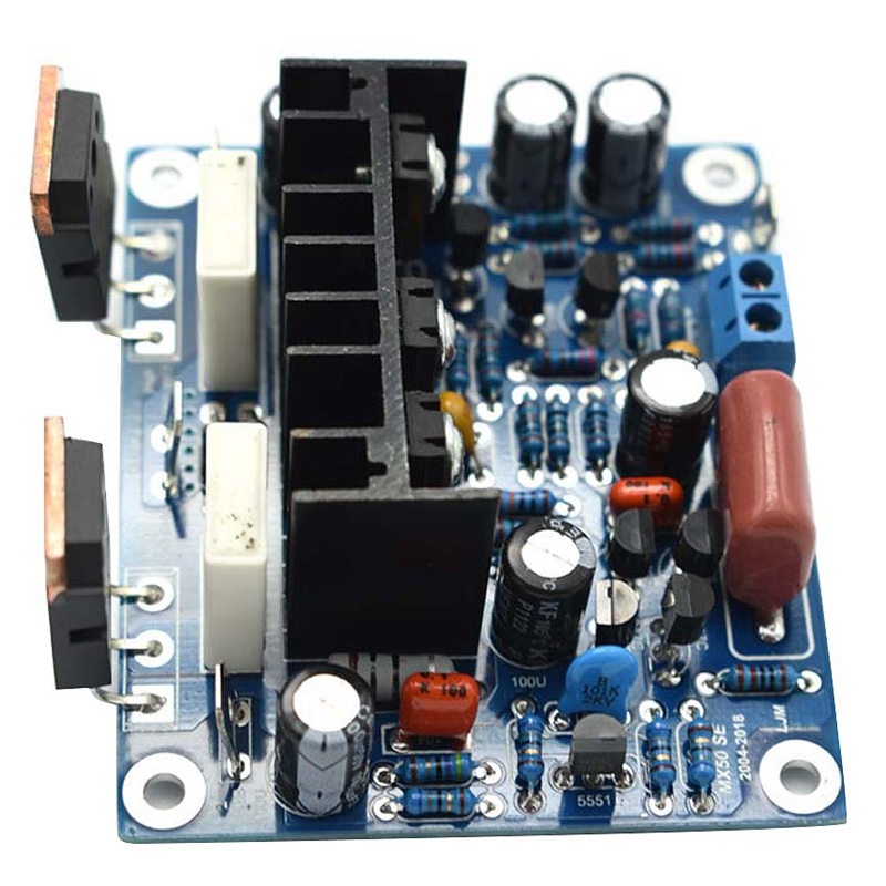 2Pcs HiFi MX50 SE 2.0 Dual Channel 100W + 100W Stereo Power Amplifier DIY KIT Science Toys for Electronic Enthusiast