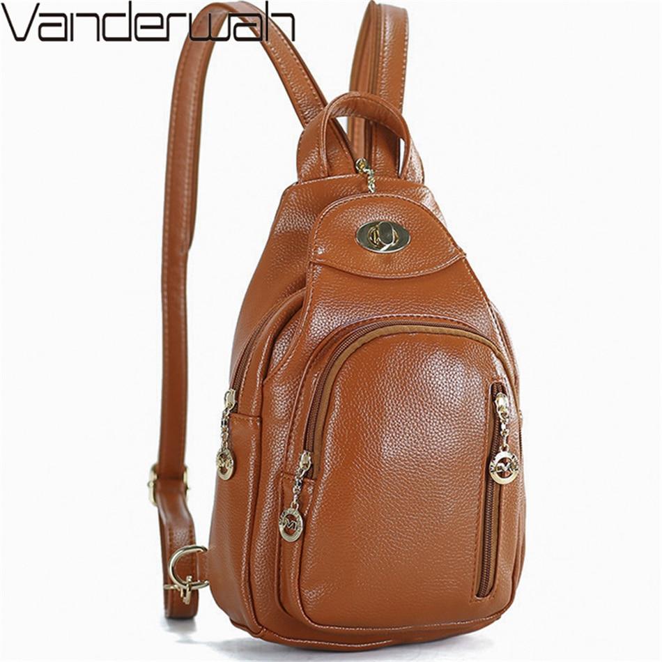 Shoulder Bags For Women 2019 Travel Back Pack Women Leather Backpack School Bags For Teenage Girls Bagpack Chest Bag Mochila