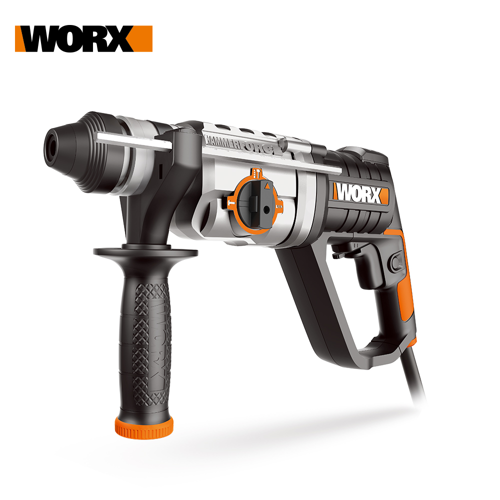 Worx 800W/26mm Rotary Hammer Drill WX339 Electric Hammer Drilling 3in1 Household Power Tools + Injection Tool Box Variable speed