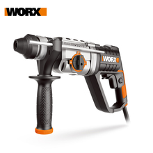 Worx 800W Corded Rotary Hammer Drill WX339 Electric hammer Drilling Home DIY Power tools Injection Tool Box/Case Free Shipping hammer drill electric redverg rd rh1500 power 1500 w drilling in concrete to 36mm антивибрационная system