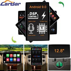 Универсальный автомобильный DVD-плеер Tesla Double 2 Din, 12,8 дюйма, Android 9,0, GPS, радио, аудио, стерео, мультимедиа, головное устройство, поворотный экран