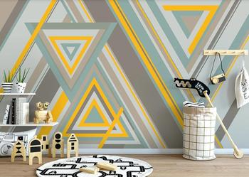 цена на Custom 3D wallpapers for children room Living room bedroom wall mural stickers Simple modern geometry 3D Background wall