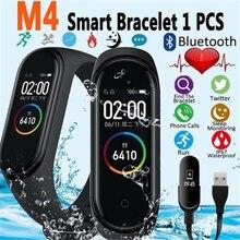 Смарт-браслет M4 для занятий спортом, фитнесом, шагомером, умный Браслет, цветной ips экран, браслет для измерения артериального давления, счетчик шагов, мужские и женские часы