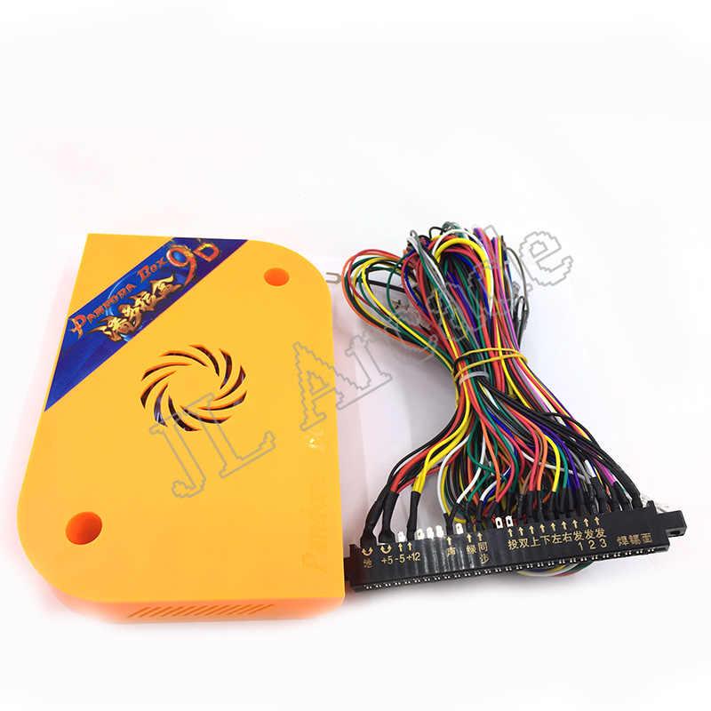판도라 박스 9d 2500 in 1 아케이드 diy 아케이드 키트 12 v 파워 박스 + 스피커 + 멀티 통화 코인 수락 자 + 아케이드 led 버튼