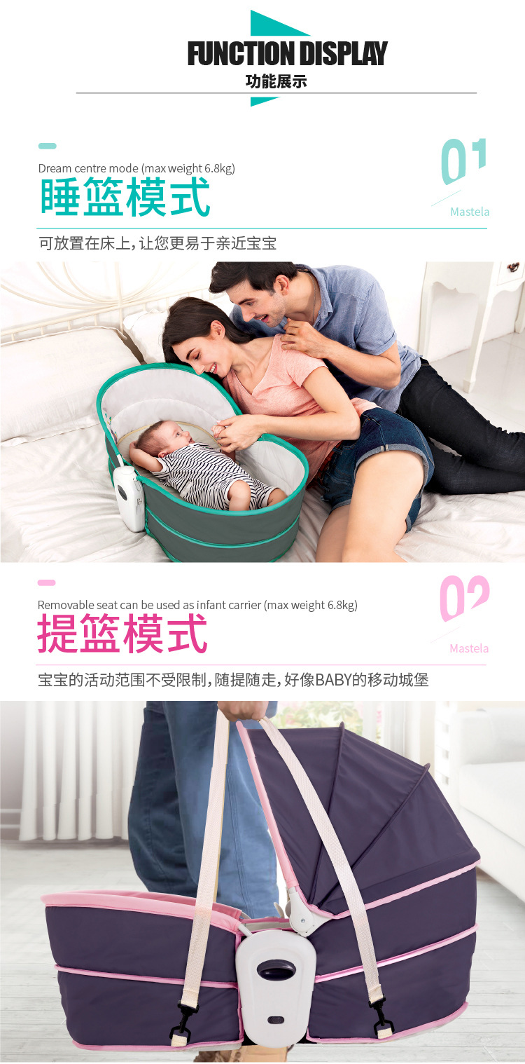 H95792f9292df497eb77c524a06d5524eb Baby Furniture Cradle 5 in 1 baby rocking bed Baby Cradle rocking chair baby recliner portable baby basket baby crib babynest