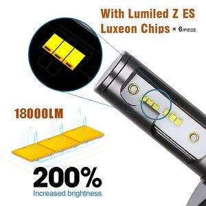 Image 3 - PANDUK H7 LED H4 ZES 18000LM Canbus H11 H8 H1 HB3 9005 9006 LED HB3 LED lampadina faro Led luci per auto 80W 6000K 8000K 12V