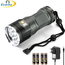 new 12xXML-T6 LED Flashlight Glare Handheld Lamp high Lumens