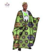 Custom Mens African Clothing Long Sleeve Men Loose Thobe Robe Dashiki Robes for Bazin Riche Femmes WYN18