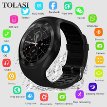 Get more info on the 2019 Bluetooth Smart Watch men women Relogio SmartWatch Android Phone Call GSM Sim Remote Camera Information Sports Pedometer