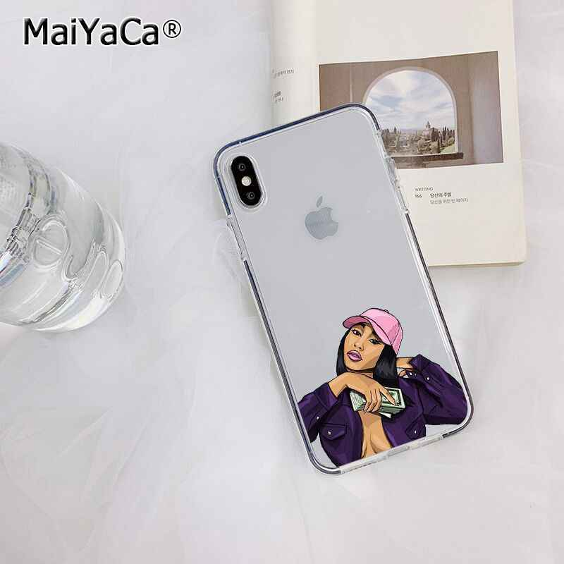 Maiyaca Merah Muda Membuat Uang Bukan Teman Kash Hitam Gadis Kepala Ponsel Case untuk Apple iPhone 11 Pro 8 7 66S plus X XS Max 5S SE XR
