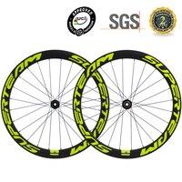 SUPERTEAM Disc Bremse Räder Cyclocross Laufradsatz 50mm Klammer Carbon Fahrrad Disc Laufradsatz V Form