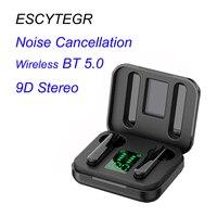Mini Bluetooth kulaklık kablosuz TWS kulaklık Stereo ses spor kulaklık gürültü engelleyici kulaklık cep telefonu için