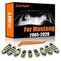 Zoomsee интерьер светодиодный для Ford Mustang 2005-2020 Canbus автомобиль лампы купольная карта двери светильник ошибок авто аксессуары для светильников