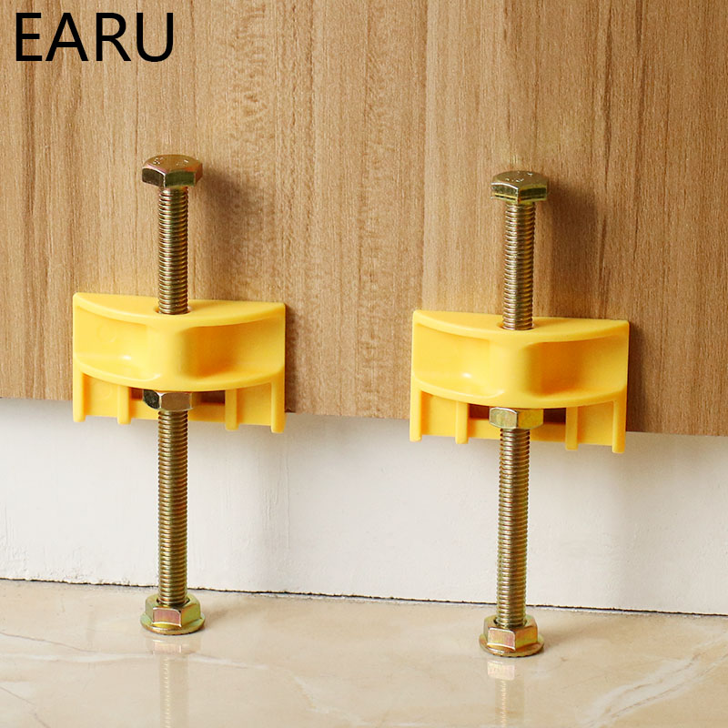 10Pcs/Pack Wall Tile Tool Tile Leveler Leveling System Sapcer Height Adjuster Locator Fine Thread Rising Tool Bolt Screw DIY