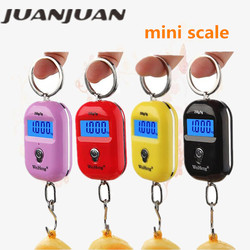 25 kg/5g Mini balance suspendue Portable électronique rétro-éclairage numérique échelle de bagages Steelyard suspendue crochet balances 40% off